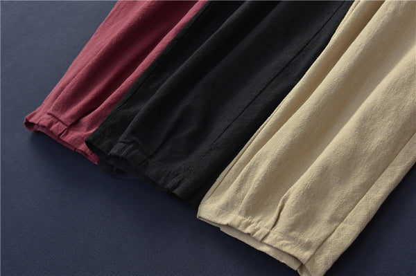 2020 NEW! Women Linen and Cotton Sand-Washed Lantern Style Pants