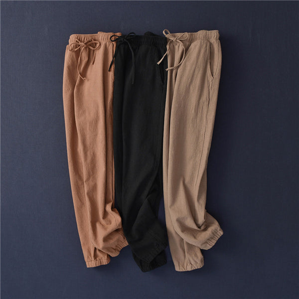 2020 NEW! Women Linen and Cotton Comfort Style Tapered Pants