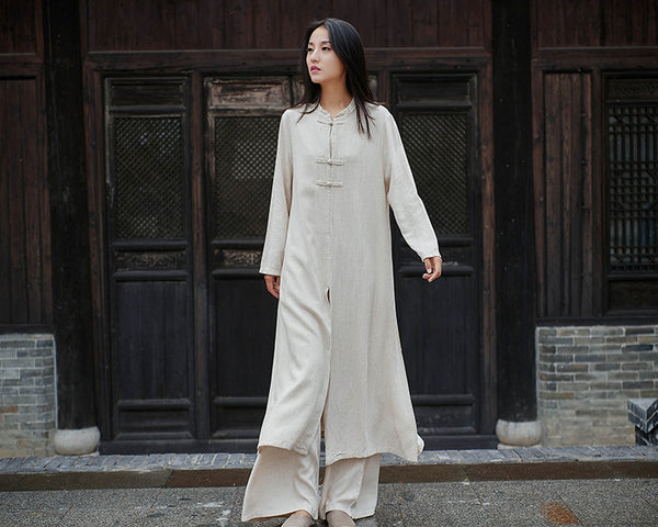 2020 NEW! Women Modern Chinese Style Linen and Cotton KungFu Clothes