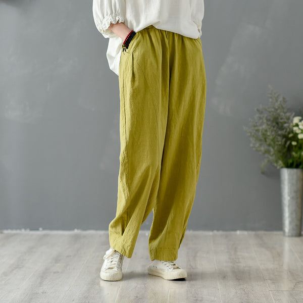 2020 SUMMER NEW! Women Pure Color Loose Lantern Pants
