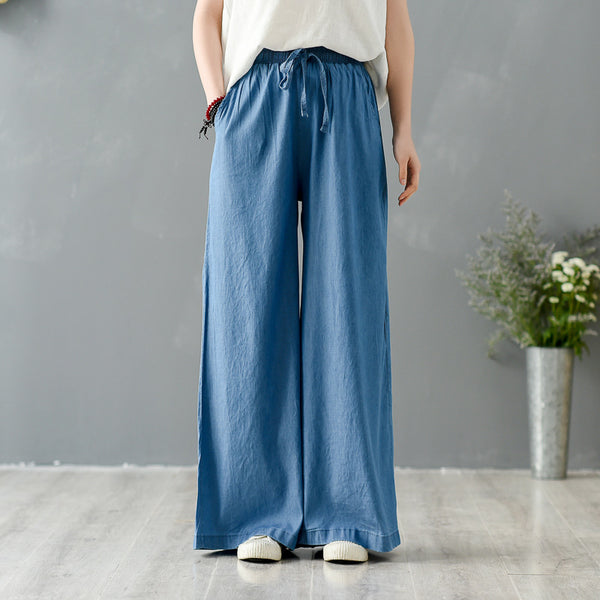 "2020 SUMMER NEW! Women Jean Yoga Style ""TENCELL"" Wide Legs Pants"