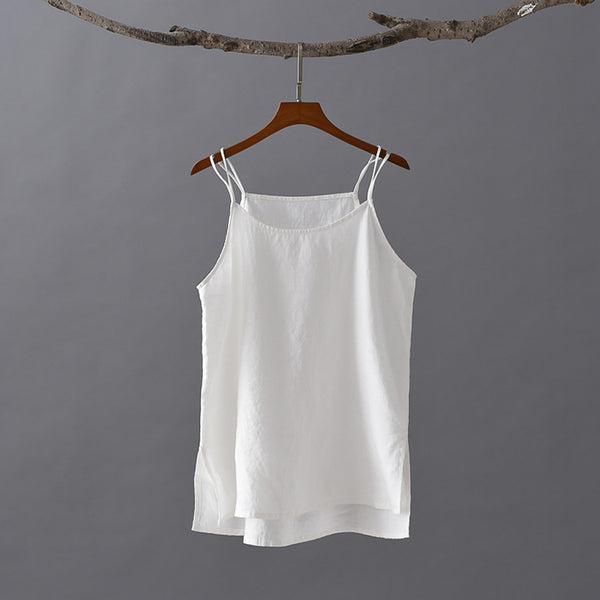 2020 SUMMER NEW! Women Simple Linen and Cotton Camisole