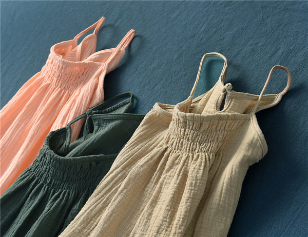 2020 SUMMER NEW! Women Casual Wrinkled Linen and Cotton Tank