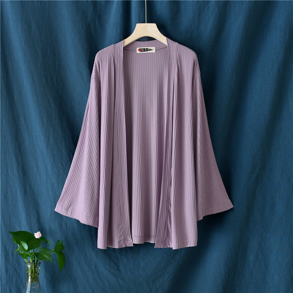 2020 SUMMER NEW! Women Simple Casual Linen and Cotton Long Sleeve Cardigan Shirt