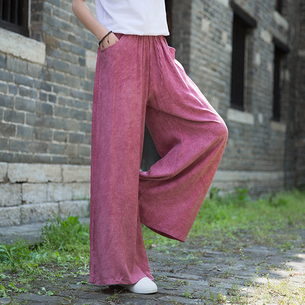 2020 SUMMER NEW! Women TENCELL Tie Dye Yoga Style Wide Legs Pants