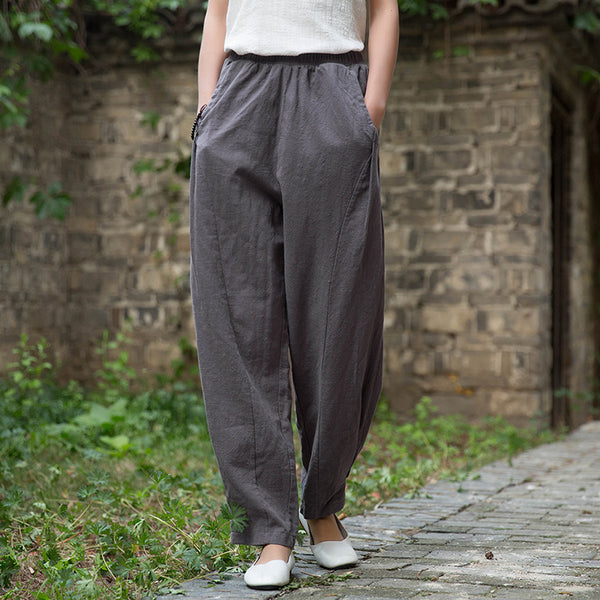 2020 SUMMER NEW! Women Linen and Cotton Lantern Style Pants