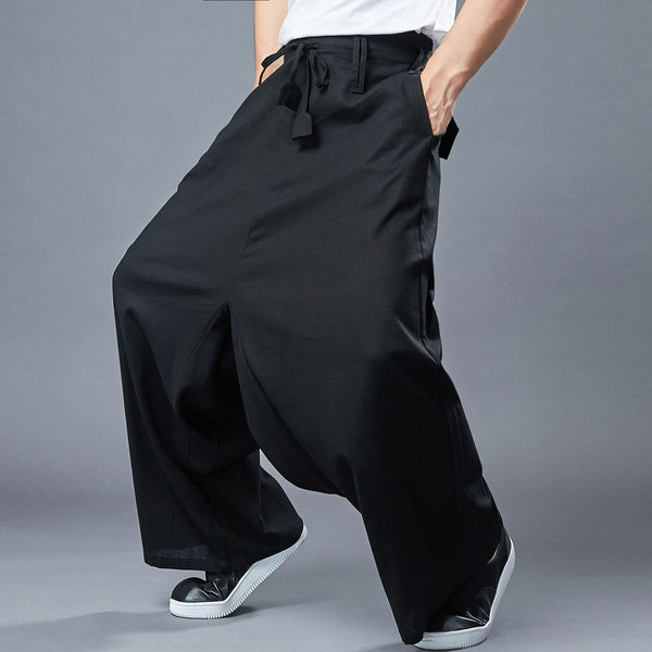 2020 NEW! Men Loose Style Wide Leg Opening Pants