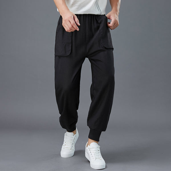 2020 NEW! Men New Style Front Big Pocket Jogger Pants