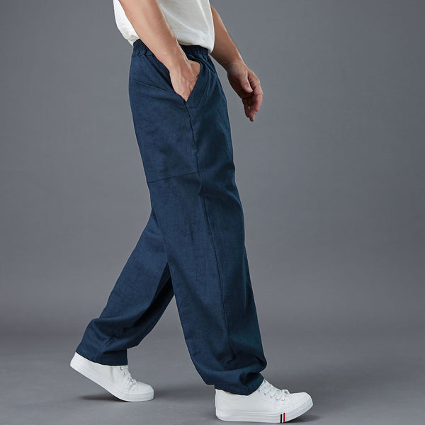 2020 NEW! Men New Style Back Big Pocket Straight Pants