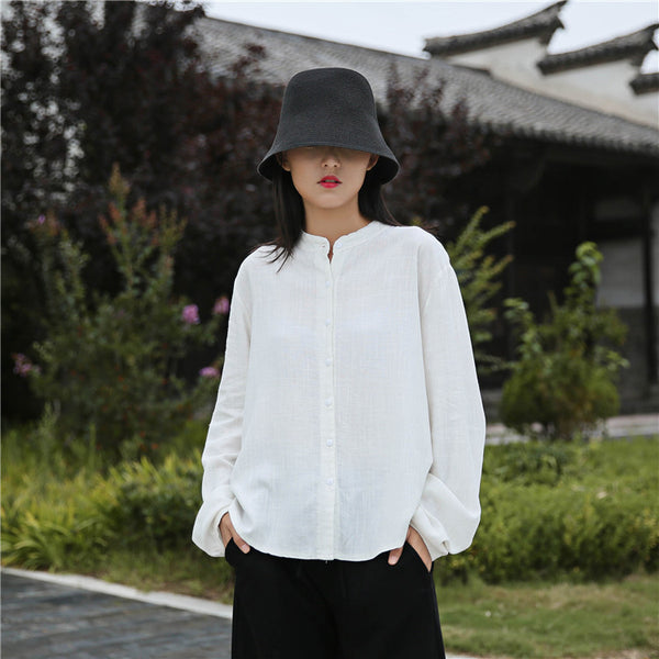 2020 NEW! Women Casual Style Sand Washed Linen and Cotton Soft Light Cardigan Long Sleeve Shirt