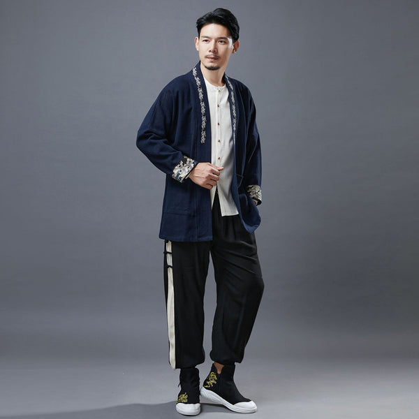 2020 NEW! Men Asian Style Linen and Cotton Short Jacket