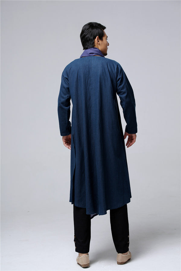 Men Eastern Style Linen and Cotton Shrugs Ponchos