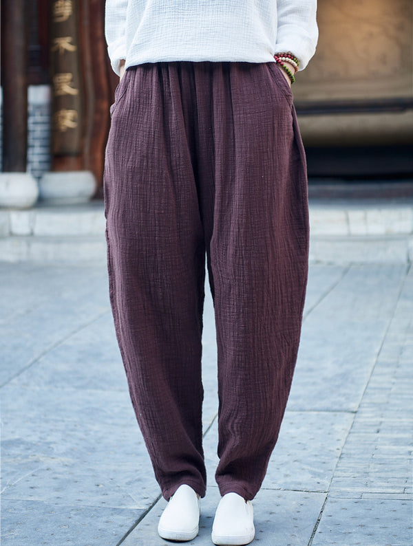 Women Cotton and Linen Loose pants