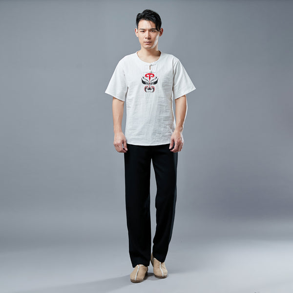 Men Causal Style Linen and Cotton Pants