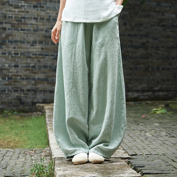 2019 NEW! Women Retro Style Women Linen and Cotton Lantern Pants