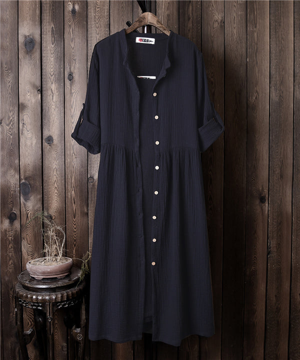 Women Loose Linen and Cotton Coat