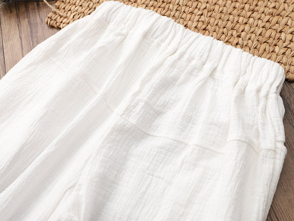 Women Causal Light Linen and Cotton Pants