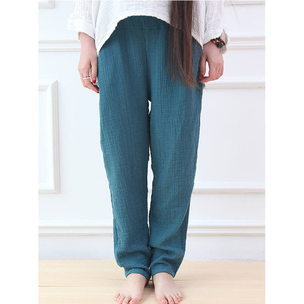 Women Cotton and Linen Casual Pants