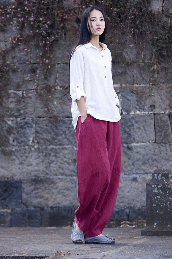 30% Sale!!! Women Lantern Leisure Linen and cotton Pants