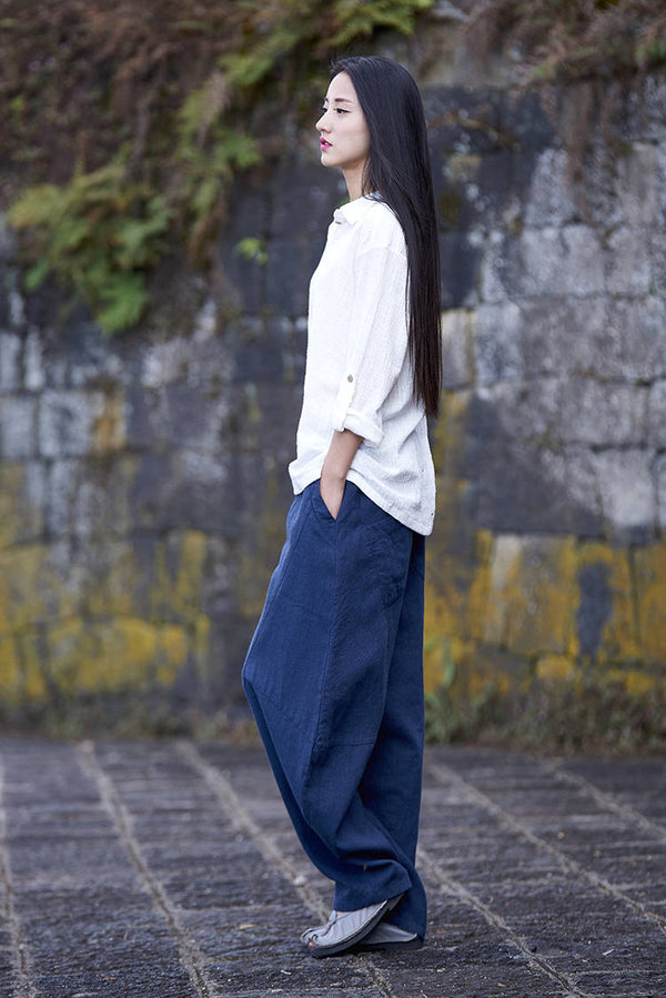 Women Lantern Leisure Linen and cotton Pants