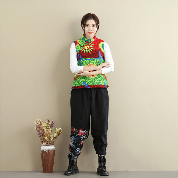 Women Linen and Cotton Casual Pants