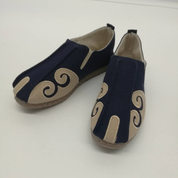 Asian Style Pure Color Natural Canvas Shoes
