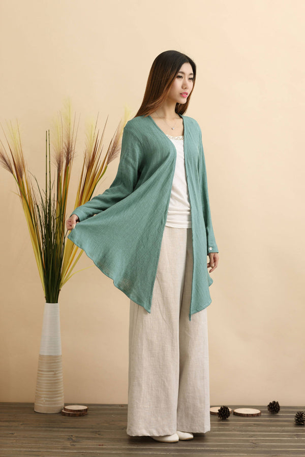 Women Eastern Style Linen and Cotton Shrugs
