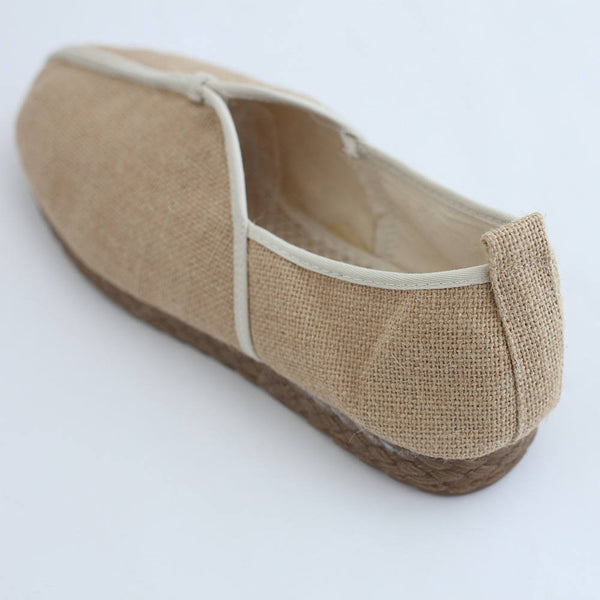 Simple Causal Pure Linen Shoes