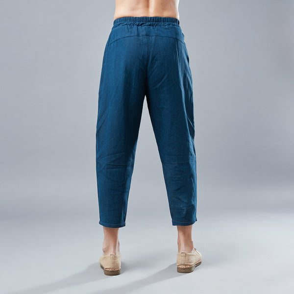 Men New Style Causal Linen and Cotton Capri Pants