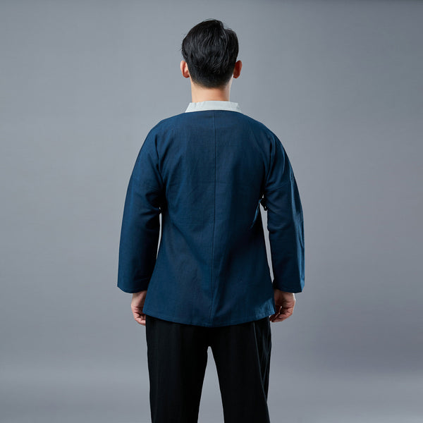 Men Zen TaiChi Hangfu Kungfu Style Linen and Cotton Top