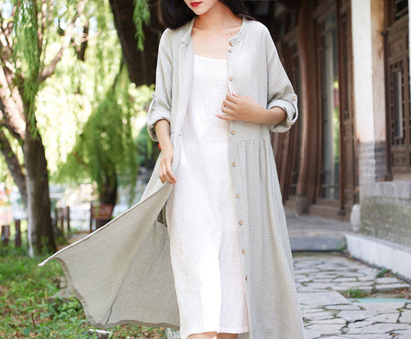 2019 NEW! Women Loose Linen and Cotton Coat
