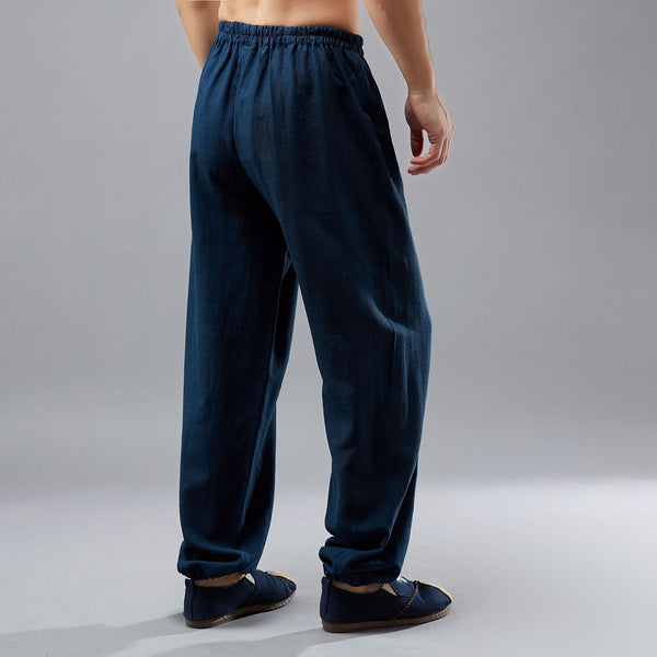 2019 NEW! Men Loose Tai Chi Zen Linen and Cotton KungFu Pants