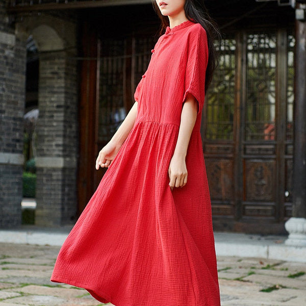 2019 NEW! Simple Linen Dress/ Summer Linen Dress/ Maternity dress/ Casual dress/ Tent Dress