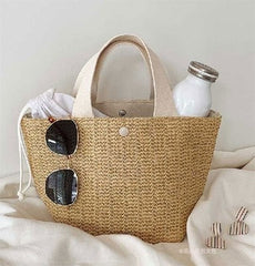 Straw Bag Wicker Woven