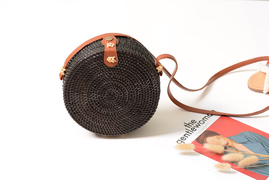 Handmade Crossbody Wicker Bag,