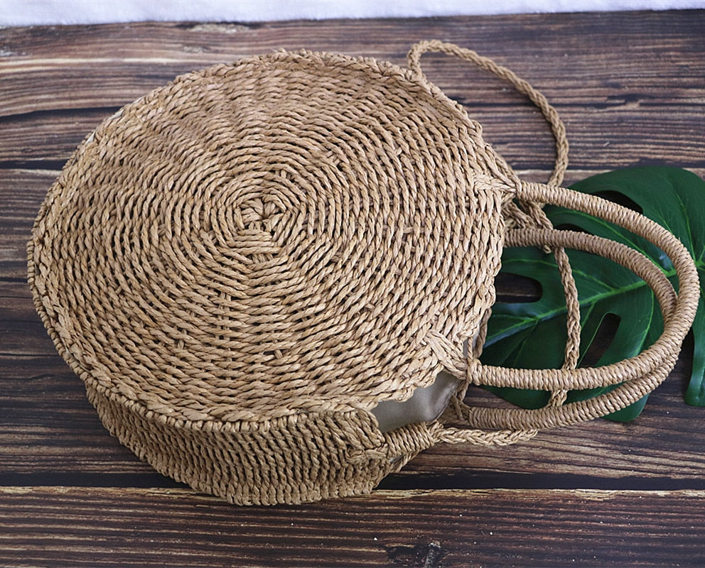 Straw Bag Handmade Rattan