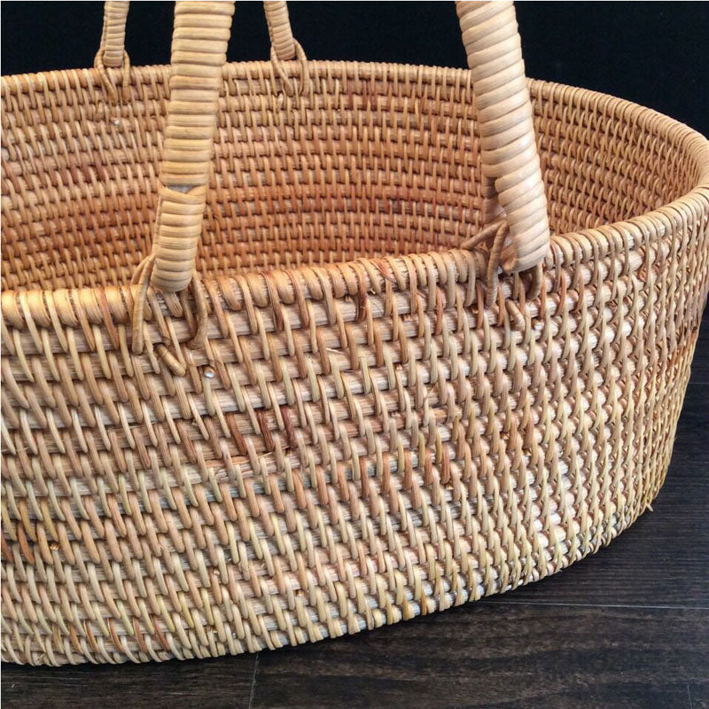 Handmade portable basket