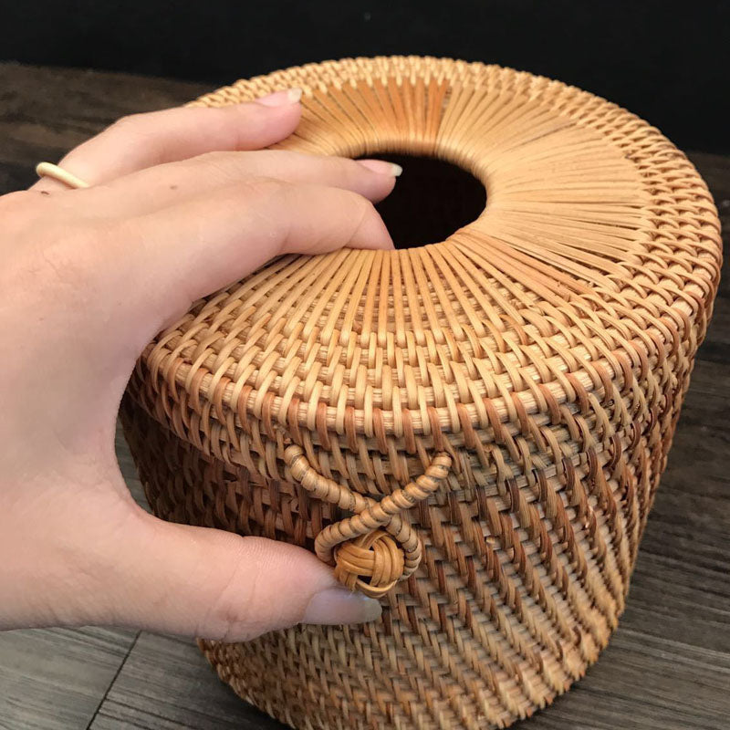 Decorative rattan box for Paper