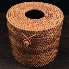 Rolled paper Rattan box