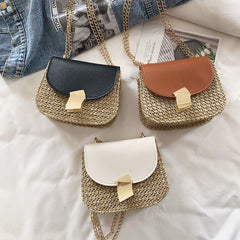 women bag Straw Shoulder Bag Small Flap Crossbody bags for women