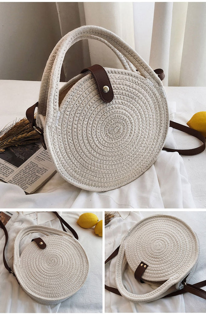 Straw Beach Bag Handmade