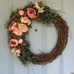 Wedding Decoration Wreath Natural Rattan Wreath Garland DIY Crafts Decor For Home Door