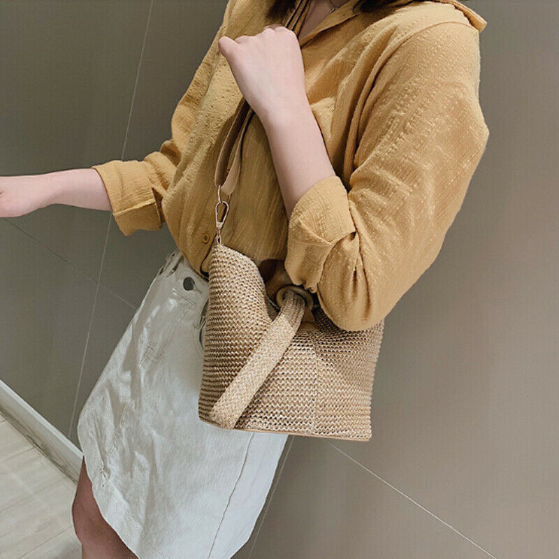 Crossbody Bags For Women 2019 Newest Style Rattan Shoulder Bag