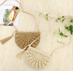 Women Fashion Straw Rattan Shoulder Bag