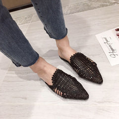 Cane Flat Woven Shoes