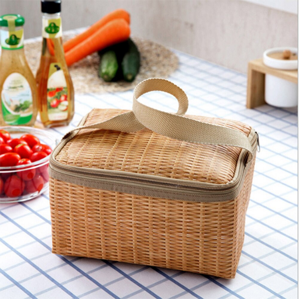 Economic Lunch Box Tote Meal Canvas Convenient for Picnic