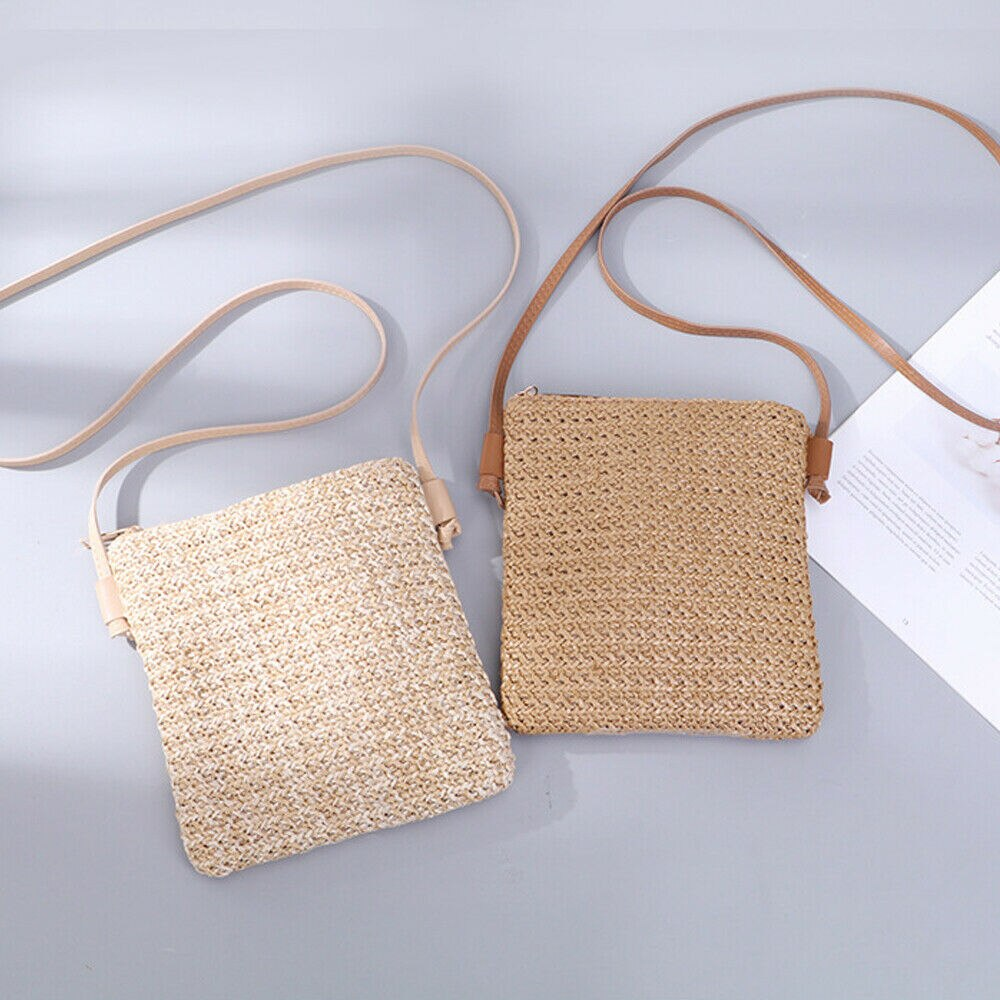 2019 Newest Style Crossbody Bags For Women Girl Straw Small Square Rattan Bags