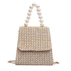 New Style straw Bag with pearls