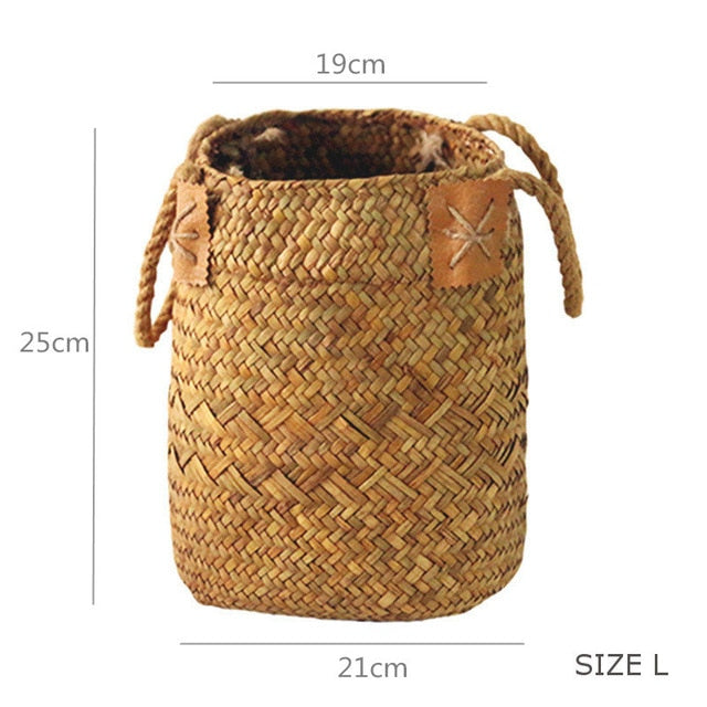 Woven Storage Baskets Garden Flower  Rattan