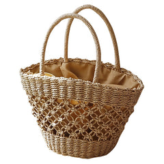 Summer Wicker Basket Bag